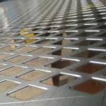 Chapa de aço carbono perfurada