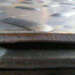 Chapa de aço recalcada