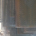 Chapa perfurada para filtro
