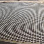 Tela perfurada aço carbono